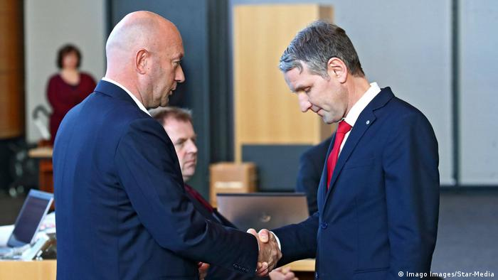 Björn Höcke AfD bows to Thomas L Kemmerich