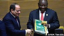 Äthiopien AU-Gipfel in Addis Abeba | Cyrial Ramaphosa übernimmt Vorsitz von Abdel Fattah al-Sisi