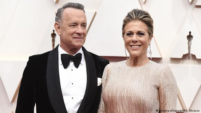 Tom Hanks und Rita Wilson in formal dress