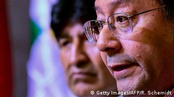 Luis Arce und Evo Morales