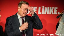 Bodo Ramelow touches his forehead during a campaign event in October (Getty Images/J. Schlüter)