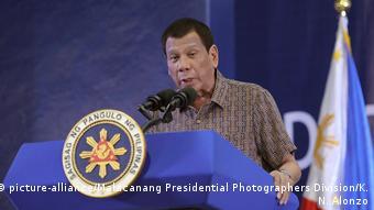 Philippinischer Präsident Rodrigo Duterte (picture-alliance/Malacanang Presidential Photographers Division/K. N. Alonzo)