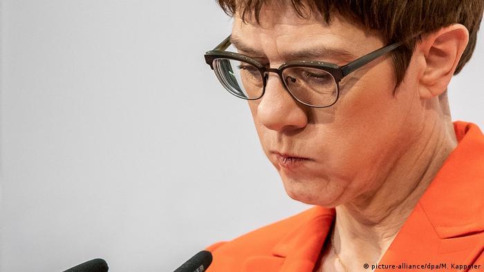 Председатель Христианско-демократического союза Аннегрет Крамп-Карренбауэр