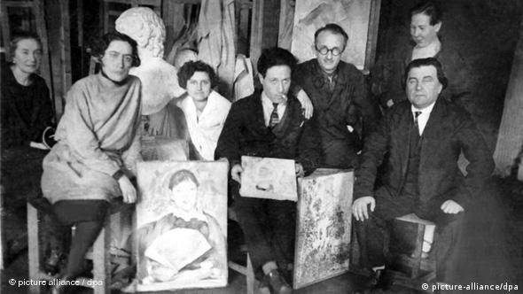 Каземир Малевич с учениками