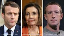 Le President de la Republique, M. Emmanuel MACRON NEWS : President francais recoit le President argentin a Paris - 05/02/2020 LIONELURMAN/PANORAMIC PUBLICATIONxNOTxINxFRAxITAxBEL ++++++++++++++++++++++++ 05.02.2020, USA, Washington: Nancy Pelosi, demokratische Vorsitzende des Repräsentantenhauses, nimmt an einer Pressekonferenz über den Protecting the Right to Organize (PRO) Act teil. Nach Ansicht Pelosis ist US-Präsident Trump weiterhin eine «Gefahr für Amerikas Demokratie». Foto: Michael Brochstein/ZUMA Wire/dpa +++ dpa-Bildfunk +++ | +++++++++++++++++++++++++++ Facebook CEO Mark Zuckerberg speaks about News Tab at the Paley Center, Friday, Oct. 25, 2019 in New York. The new feature in the Facebook mobile app will display headlines — and nothing else — from the Wall Street Journal, the Washington Post, BuzzFeed News, Business Insider, NBC, USA Today and the Los Angeles Times, among others.(AP Photo/Mark Lennihan) |