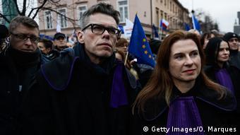 Διαδηλώσεις στη Βαρσοβία κατά των μεταρρυθμίσεων στη Δικαιοσύνη