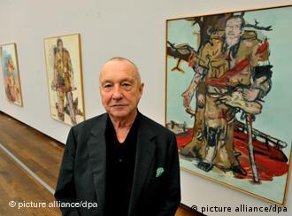 Pintor Georg Baselitz, nascido em 1938