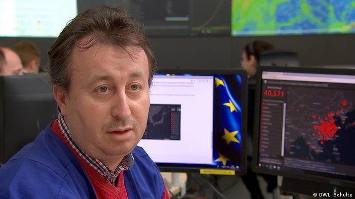 Niemiecki specjalista ds. kryzysów Christian Iacob (DW/L. Schulte)