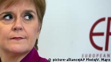 EU Nicola Sturgeon Rede zu Schottland nach Brexit in Brüssel
