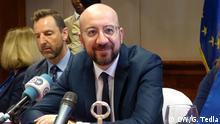 Äthiopien Addis Abeba Pressekonferenz EU-Ratspräsident Charles Michel