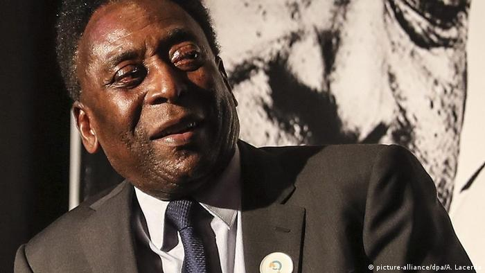 Brazilian football great Edson Arantes do Nascimento, known as Pele, at an event in the Pele Academy in 2016