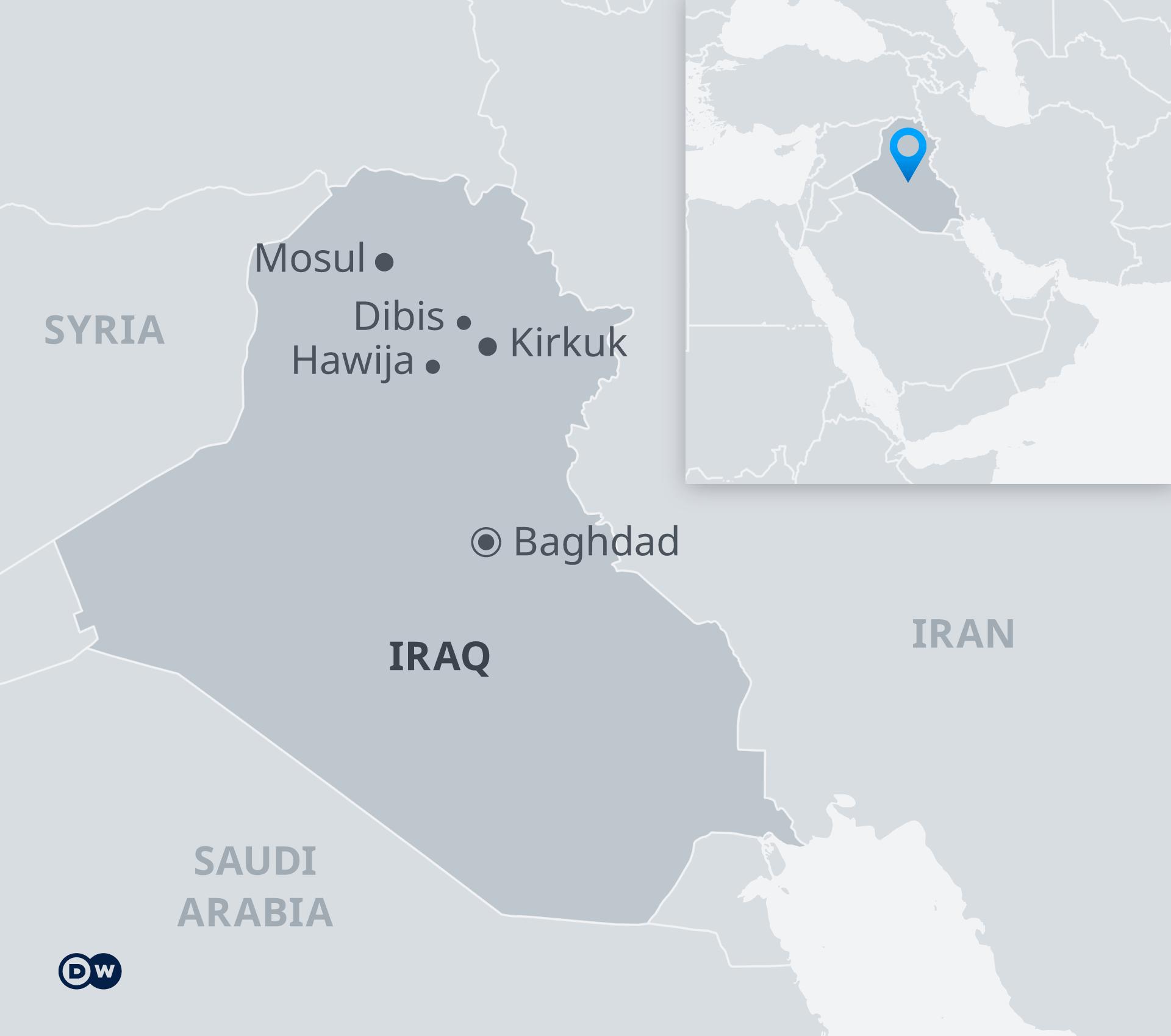 Infografik Karte Irak EN
