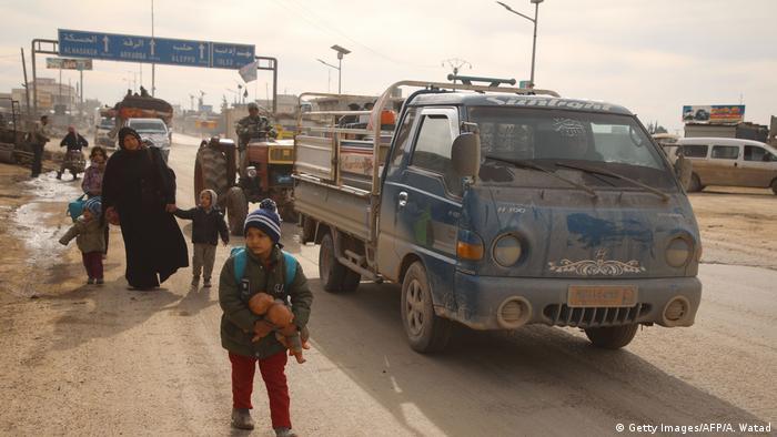 Syrien Kämpfe um die Autobahn M5 (Getty Images/AFP/A. Watad)