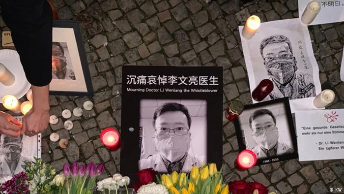 Zmarły wskutek zakażenia koronawirusem 2019-nCoV lekarz Li Wenliang stał się symboliczną postacią (KW)