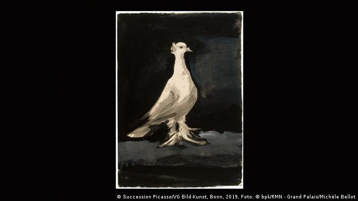 A white dove painted by Picasso in 1942 (Foto: Succession Picasso/VG Bild-Kunst, Bonn, 2019, Foto: © bpk/RMN - Grand Palais/Michèle Bellot).
