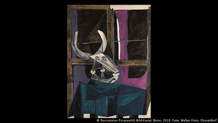 The abstract painting Still Life With Skull of Ox (Foto: Succession Picasso/VG Bild-Kunst, Bonn, 2019, Foto: Walter Klein, Düsseldorf).