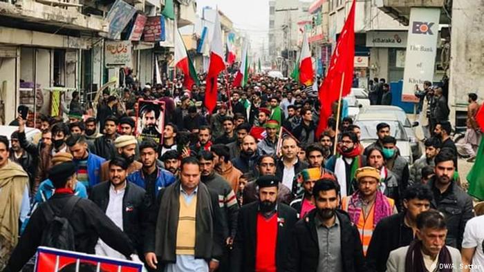 Pakistan | Demonstration Kaschmirische Nationalisten (DW/A. Sattar)