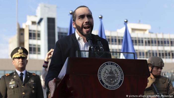 Nayib Bukele, presidente de El Salvador, en un discurso frente al Congreso.