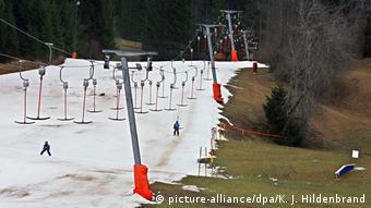 Отсутствие снега в горнолыжном регионе Германии