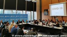 Schweiz Genf | Pressekonferenz WHO - Tedros Adhanom Ghebreyesus | Coronavirus