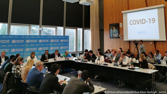Schweiz Genf | Pressekonferenz WHO - Tedros Adhanom Ghebreyesus | Coronavirus (picture-alliance/dpa/Xinhua News Agency/C. Junxia)