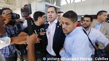 Venezuela Caracas Rückkehr Guaido Zusammenstöße
