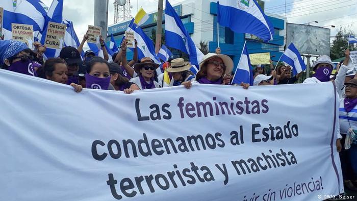 Nicaragua Frauen Feministinnen Anti Gewalt Protest (DW/G. Selser)