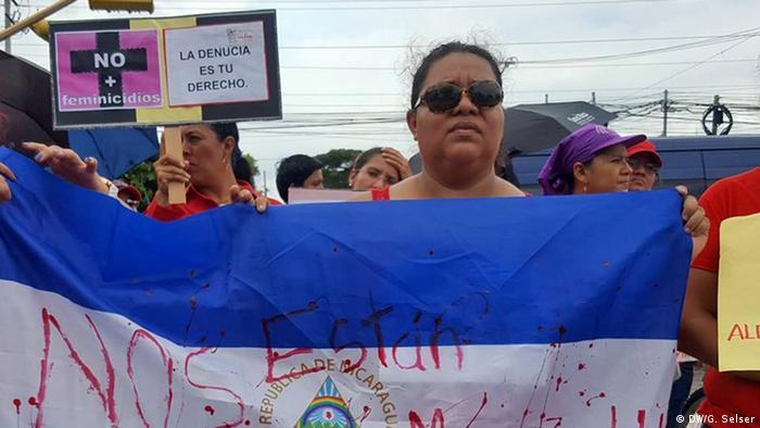 Nicaragua Managua Frauen Protest Nos están matando