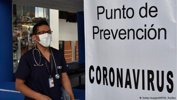 Bolivien La Paz | Coronavirus | El Alto International Airport, Sicherheitsmaßnahmen