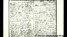1-B22-S1807 (936) Beethoven, Brief an die 'Unsterbliche' Beethoven, Ludwig van Komponist, 1770-1827. - Beethovens sog. 'Brief an die unsterb- liche Geliebte', vermutl. Bad Teplitz, 6./7.Juli (1807?); Doppelseite vom 6. Juli morgens: 'Mein Engel, mein Alles, mein Ich! - Nur einige Worte heute, und zwar mit Bleistift - (mit Deinem); (...).' - E: Beethoven / 'Immortal Beloved' Letter Beethoven, Ludwig van German composer, 1770-1827. - Beethoven's letter to his 'Immortal Beloved', possibly written in Bad Tepl- itz 6/7 July (1807?); double-page from 9 July morning: 'My angel, my all, my self! - only a few words today, and in pencil (yours) (...)'. - |
