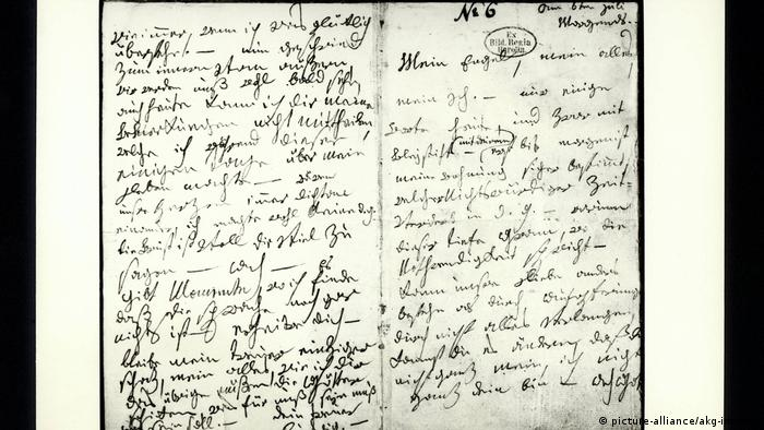 Beethoven's letter to the 'Immortal Beloved' (picture-alliance/akg-images)