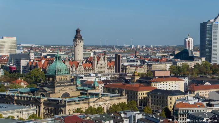 Bird eye's view of Leipzig