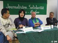 میترا خلعتبری در نشست همبستگی با خبرنگاران ایرانی در شهر آخن