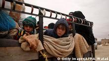 Syrien | syrische Kinder auf einem Truck
