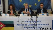 Mosambik Maputo Pressekonferenz der Europäischen Union zu den Parlamentswahlen in Mosambik im Oktober 2019