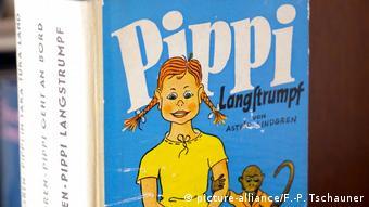 The cover of Astrid Lindgren's book Pippi Longstocking