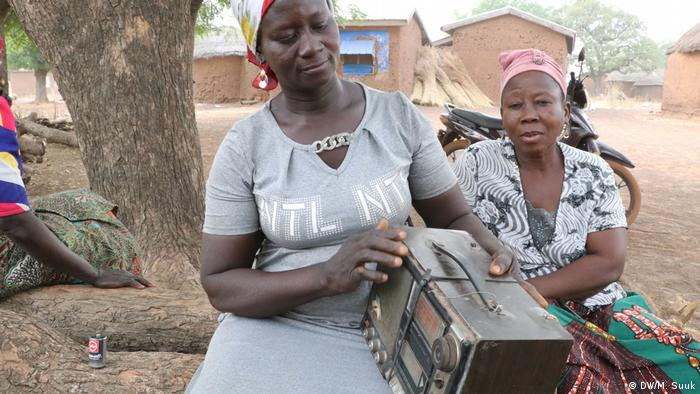 Women in northern Ghana listen to radio