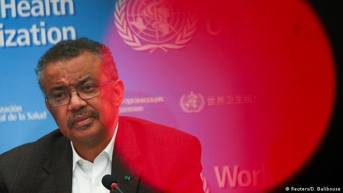 WHO Generaldirektor Tedros Adhanom Ghebreyesus (Reuters/D. Balibouse)