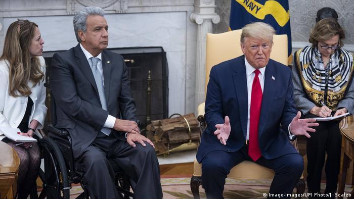 USA Donald trump empfängt Lenín Moreno im weißen Haus
