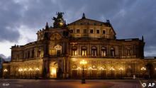 A Ópera Semper, em Dresden