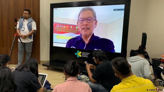 Konferensi pers bersama Achmad Yurianto dari Kemenkes