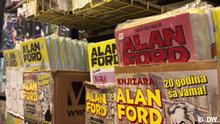 Die Buchhandlung Alan Ford Belgrad Beschreibung: Die Buchhandlung Alan Ford Belgrad, Serbien, verkauf nur alte und neue Comics. Copyright: DW