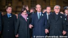 Deutschland Menschenkette 75. Jahrestag Zerstörung Dresden Bundespräsident Steinmeier