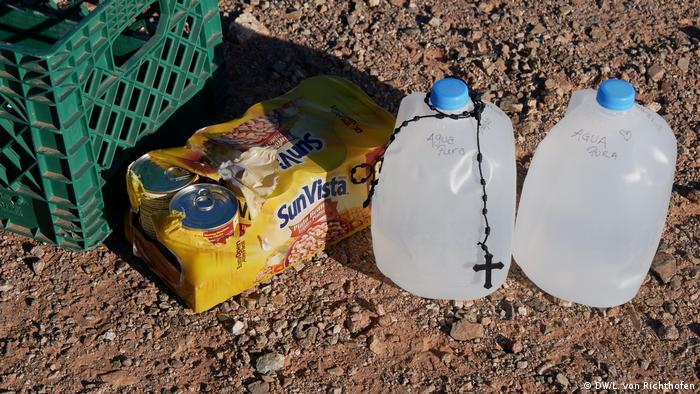 Cans of beans, gallons of water and a rosary in the Sonoran Desert