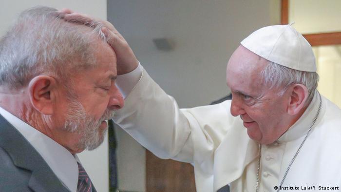 Treffen von Lula mit dem Papst Franziskus im Vatikan (Instituto Lula/R. Stuckert)