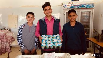 DW Impactstory Palästinensische Gebiete | Kantine, Forderung gesünderes Essen