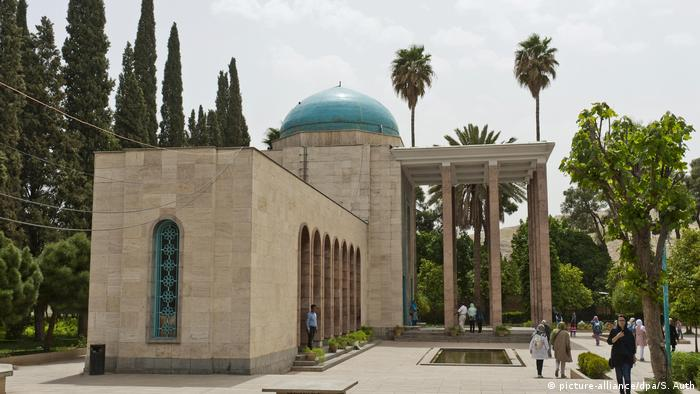 Saadi-Mausoleum Iran Garten Shiraz Schiras