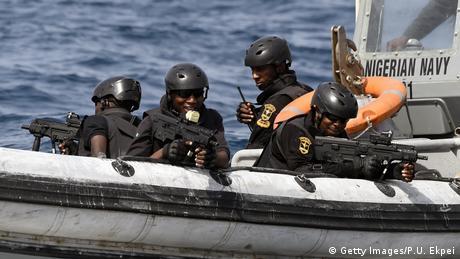 Spezialeinheit der nigerianischen Marine bei einer internationalen Übung