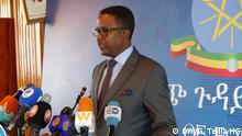 Pressekonferenz des Sprechers des äthiopischen Außenministers DW, Getachew Tedla HG - DW Korri. Addis Abeba, Äthiopien 14.02.2020