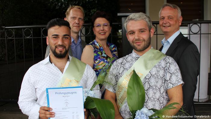 Deutschland | Beniyan Bachar | Prüfungsbester im Friseurhandwerk bei der Handwerkskammer Osnabrück